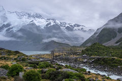 Landschaft um Mt Nationalpark des Kochs/Aoraki, Neuseeland Stockbilder