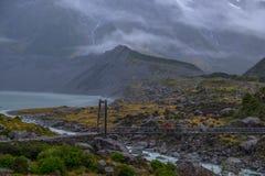 Landschaft um Mt Nationalpark des Kochs/Aoraki, Neuseeland Stockfotografie