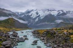 Landschaft um Mt Nationalpark des Kochs/Aoraki, Neuseeland Lizenzfreie Stockfotografie