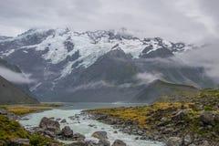 Landschaft um Mt Nationalpark des Kochs/Aoraki, Neuseeland Stockbild