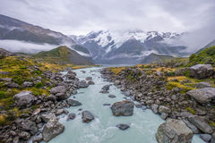 Landschaft um Mt Nationalpark des Kochs/Aoraki, Neuseeland Stockfotos