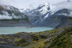 Landschaft um Mt Nationalpark des Kochs/Aoraki, Neuseeland Lizenzfreies Stockbild