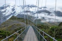 Landschaft um Mt Nationalpark des Kochs/Aoraki, Neuseeland Lizenzfreies Stockfoto