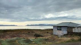 Landschaft um Titicaca-See bei Puno, Peru Stockfotos