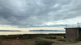 Landschaft um Titicaca-See bei Puno, Peru Stockbilder