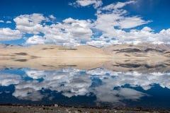 Landschaft um Tso Moriri See in Ladakh, Indien Stockbild