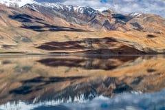 Landschaft um Tso Moriri See in Ladakh, Indien Lizenzfreie Stockbilder