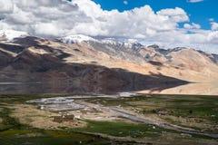 Landschaft um Tso Moriri See in Ladakh, Indien Lizenzfreies Stockbild