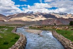 Landschaft um Tso Moriri See in Ladakh, Indien Stockfotografie