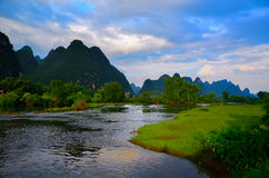 Landschaft um Yangshou Stockbilder