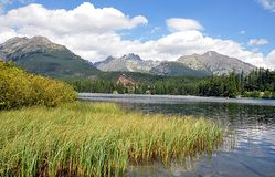 Landschaft und Berge auf dem slowakischen Lizenzfreies Stockbild