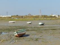 Landschaft und Boote lizenzfreie stockfotografie