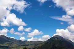 Landschaft und Guadalupe Hill Stockfotografie