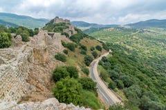 Landschaft und Nimrod Fortress stockbilder
