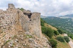 Landschaft und Nimrod Fortress stockbild