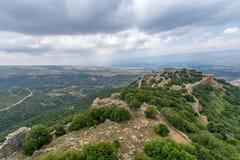 Landschaft und Nimrod Fortress lizenzfreies stockbild