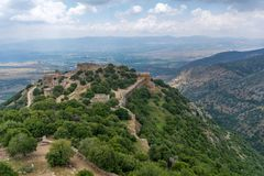 Landschaft und Nimrod Fortress stockfotografie