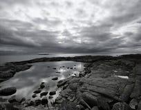 Landschaft und Reflexionen Stockbild