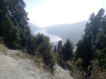 Landschaft und See von der Höhe stockbilder