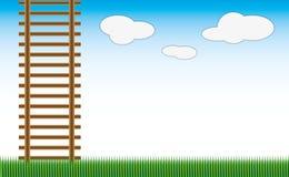 Landschaft und Treppen Lizenzfreies Stockfoto