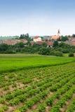 Landschaft- und Windturbinen Stockfotografie