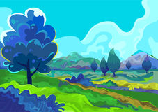 Landschaft, Vektorillustration Stockbild