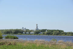 Landschaft in Velikiy Novgorod stockfotos