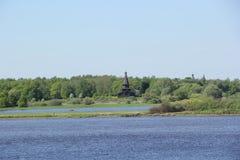 Landschaft in Velikiy Novgorod lizenzfreie stockfotografie