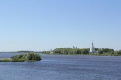 Landschaft in Velikiy Novgorod stockbild