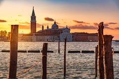 Landschaft in Venedig Italien stockbilder