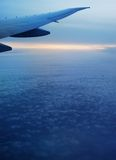 Landschaft vom Flugzeug. Stockbild