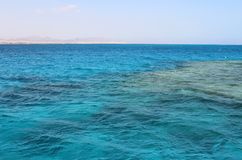 Landschaft vom Meer in Ägypten Hurghada stockbild