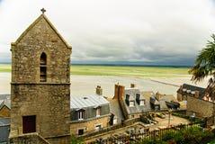 Landschaft vom Mont Saint Michel, Normandie, Frankreich Lizenzfreie Stockfotos