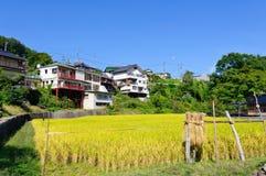Landschaft von Achi-Dorf in Süd-Nagano, Japan Stockfoto