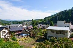 Landschaft von Achi-Dorf in Süd-Nagano, Japan Lizenzfreie Stockfotografie