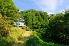 Landschaft von Achi-Dorf in Süd-Nagano, Japan Stockbild