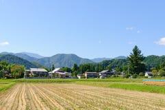 Landschaft von Achi-Dorf in Süd-Nagano, Japan Lizenzfreie Stockbilder