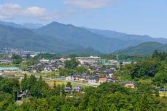 Landschaft von Achi-Dorf in Süd-Nagano, Japan Stockfotografie