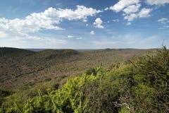 Landschaft von Addo Elephant National Park im August, Südafrika Lizenzfreies Stockfoto
