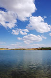 Landschaft von Alqueva See, Portugal Lizenzfreies Stockbild