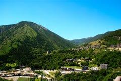 Landschaft von Andorra Pyrenees stockfotos