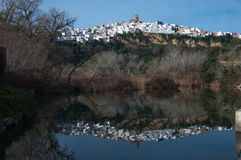 Landschaft von Arcos de la Frontera Lizenzfreie Stockfotos