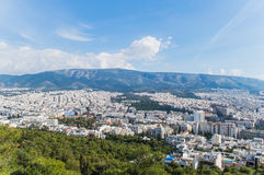Landschaft von Athen Lizenzfreie Stockfotografie