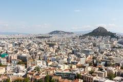 Landschaft von Athen stockfotografie