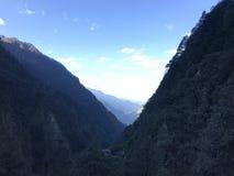 Landschaft von Ausflug Himalajas Kedharnath stockfoto