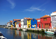 Landschaft von Aveiro, Portugal. Stockfotografie