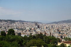 Landschaft von Barcelona Lizenzfreies Stockbild