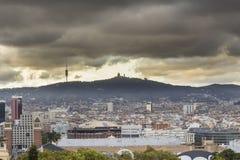 Landschaft von Barcelona stockfoto