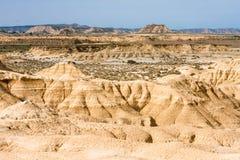 Landschaft von Bardenas blancas in Navarre, Spanien Lizenzfreies Stockfoto