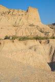 Landschaft von Bardenas Reales, Navarra Lizenzfreie Stockfotos